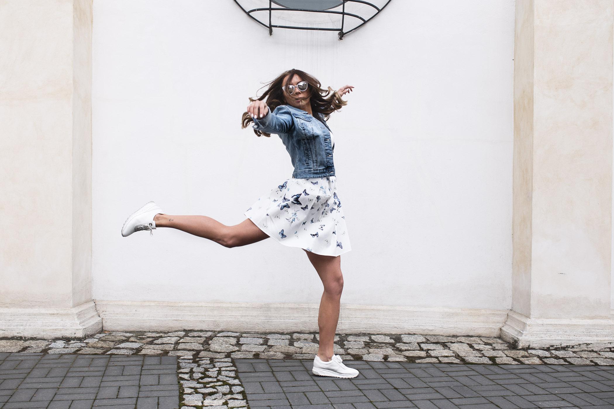 Orsay, modna mama, spring outfit, sukienka Orsay, katana orsay,