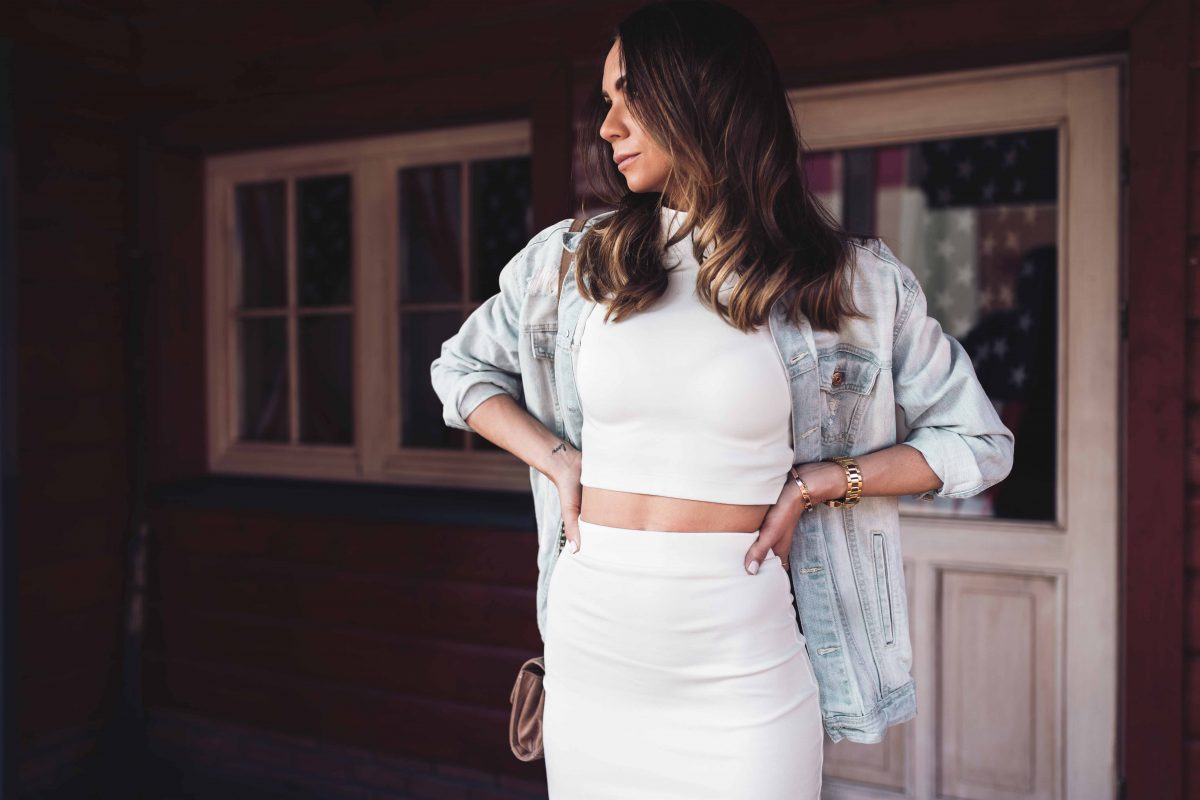 WHITE COMBO & DENIM JACKET