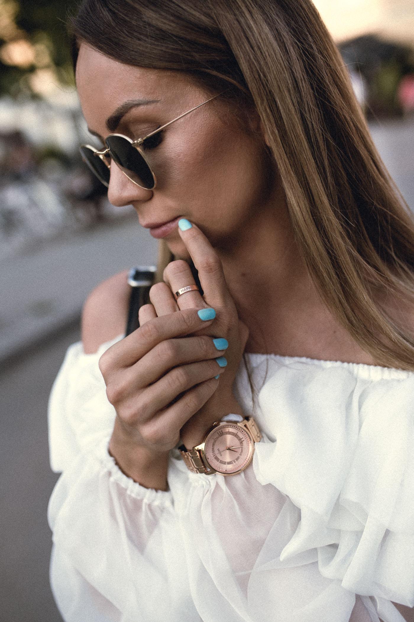 Semilac, zegarek guess, Lavender sukienka,