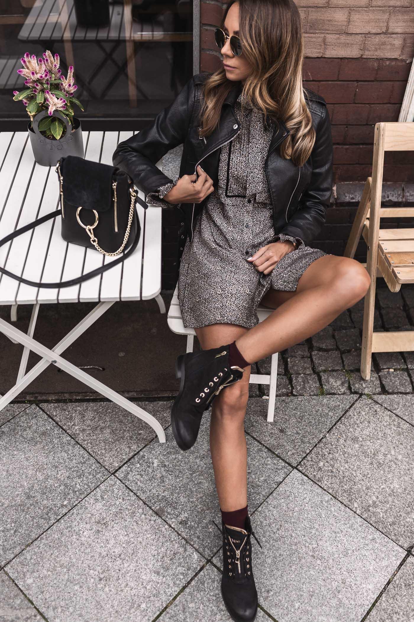eobuwie, Carinii botki, sukienka Twin Set, buty typu worker, Katowice