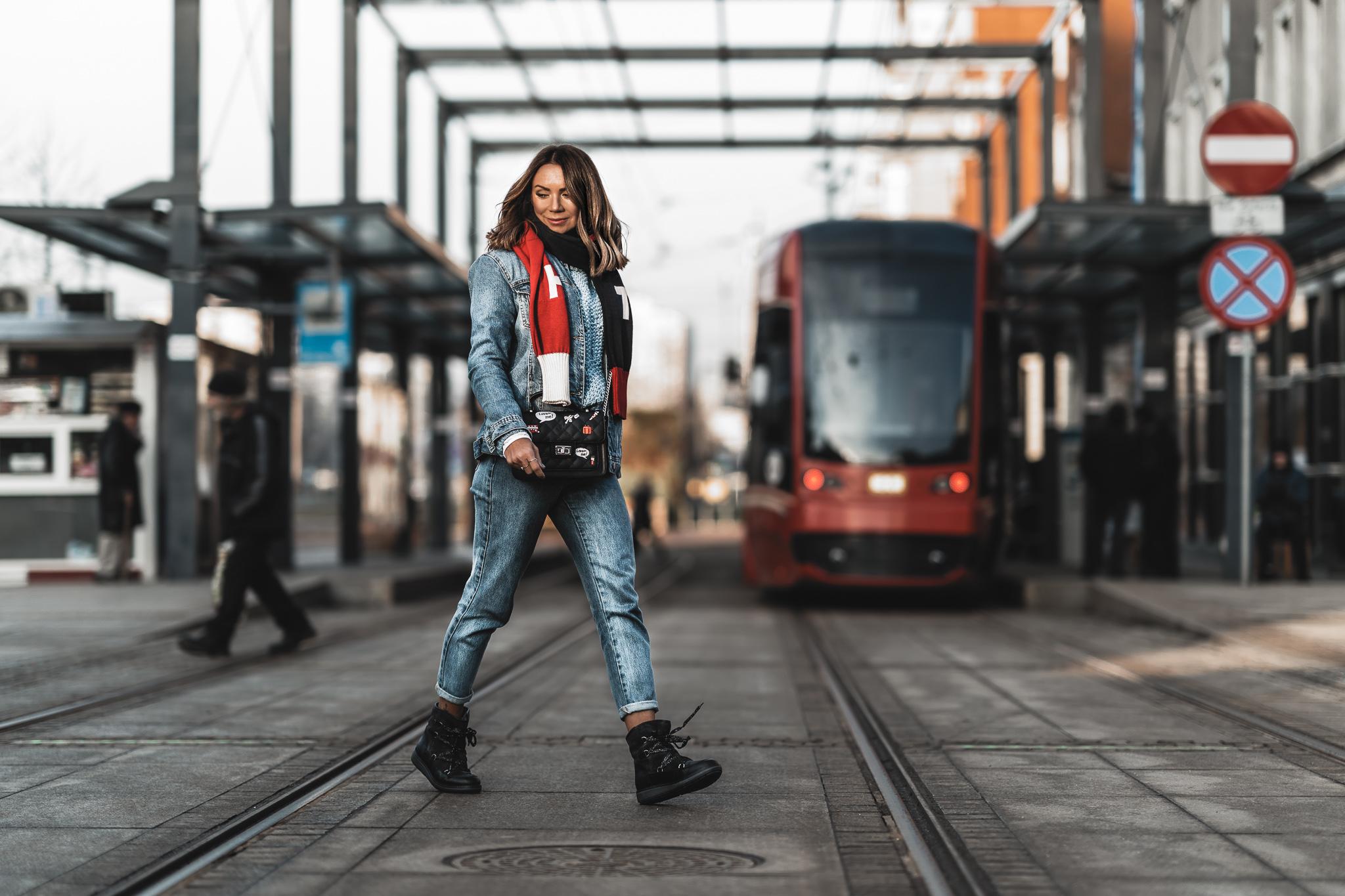 Buty śniegowce Tommy Hilfiger, Katowice, Sweter h&m, olivkablog, olivka blog, modna mama