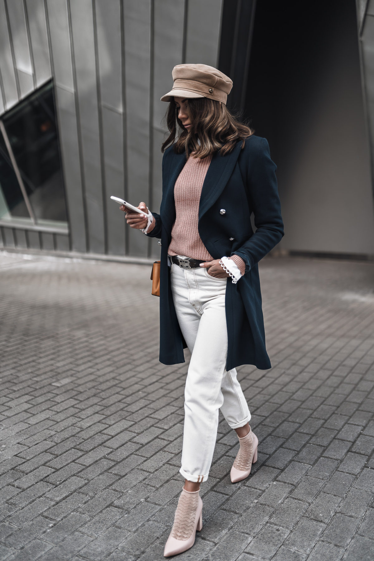 Comfy Coat & High Heels