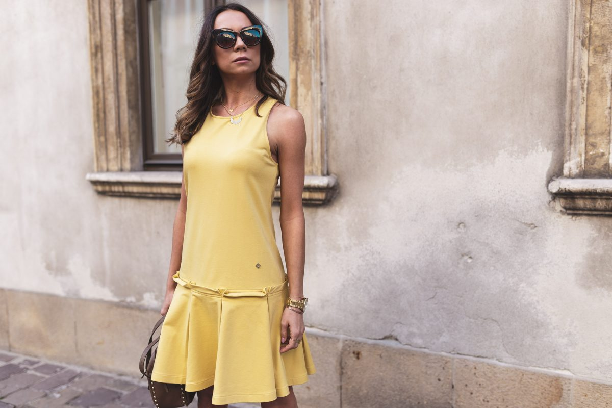 MIX & MATCH YELLOW DRESS