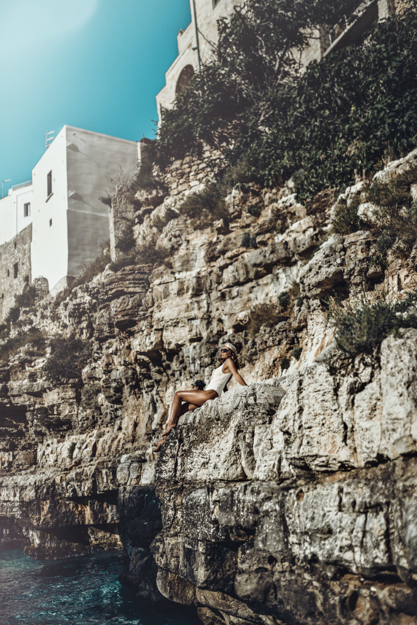 Wybrzeże Adriatyku w Polignano a Mare