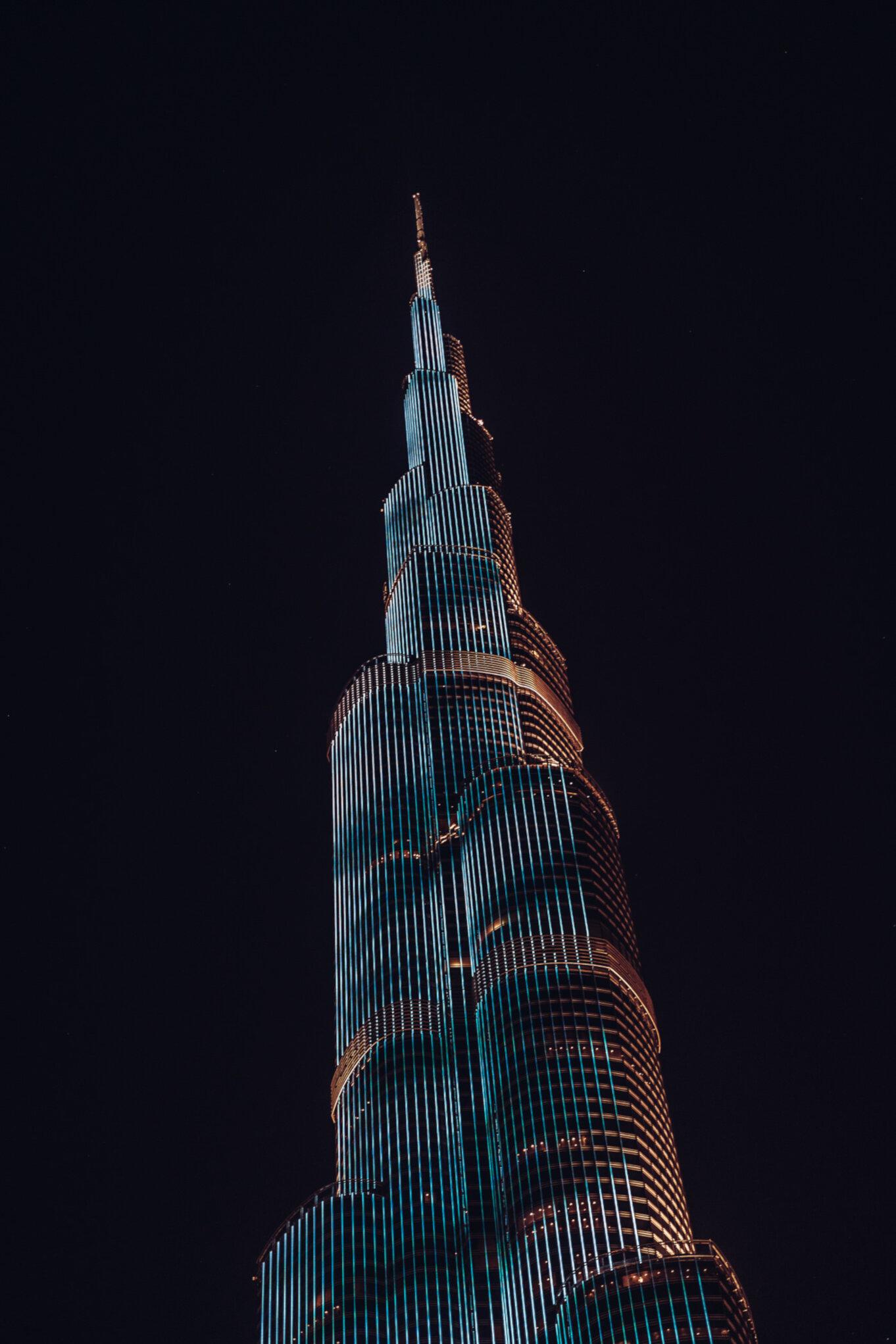 Wieża Burj Khalifa w Dubaju