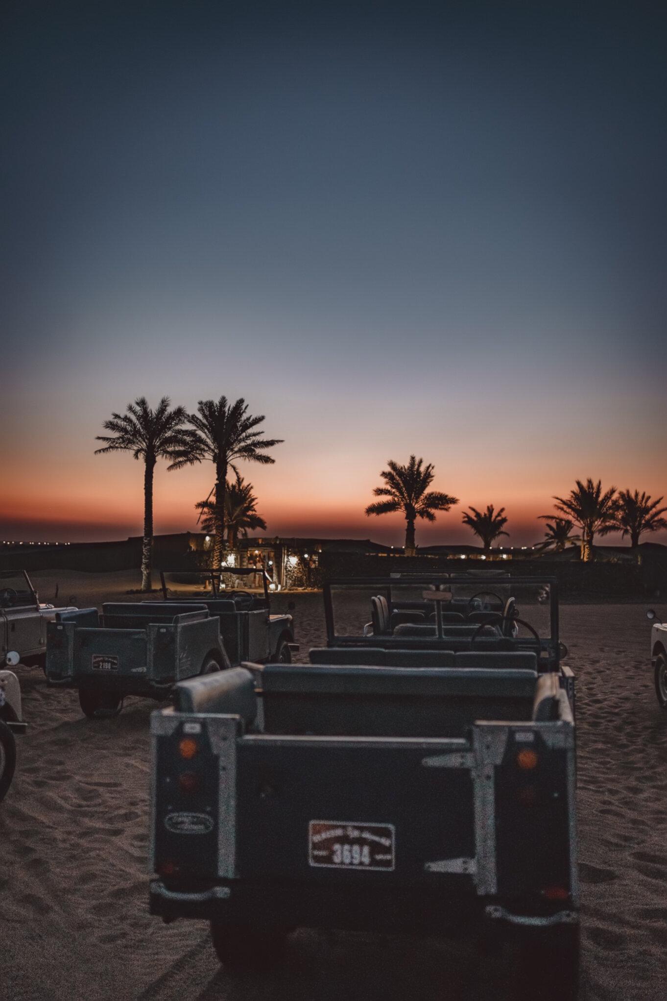 Nocny rajd po pustyni w Dubaju