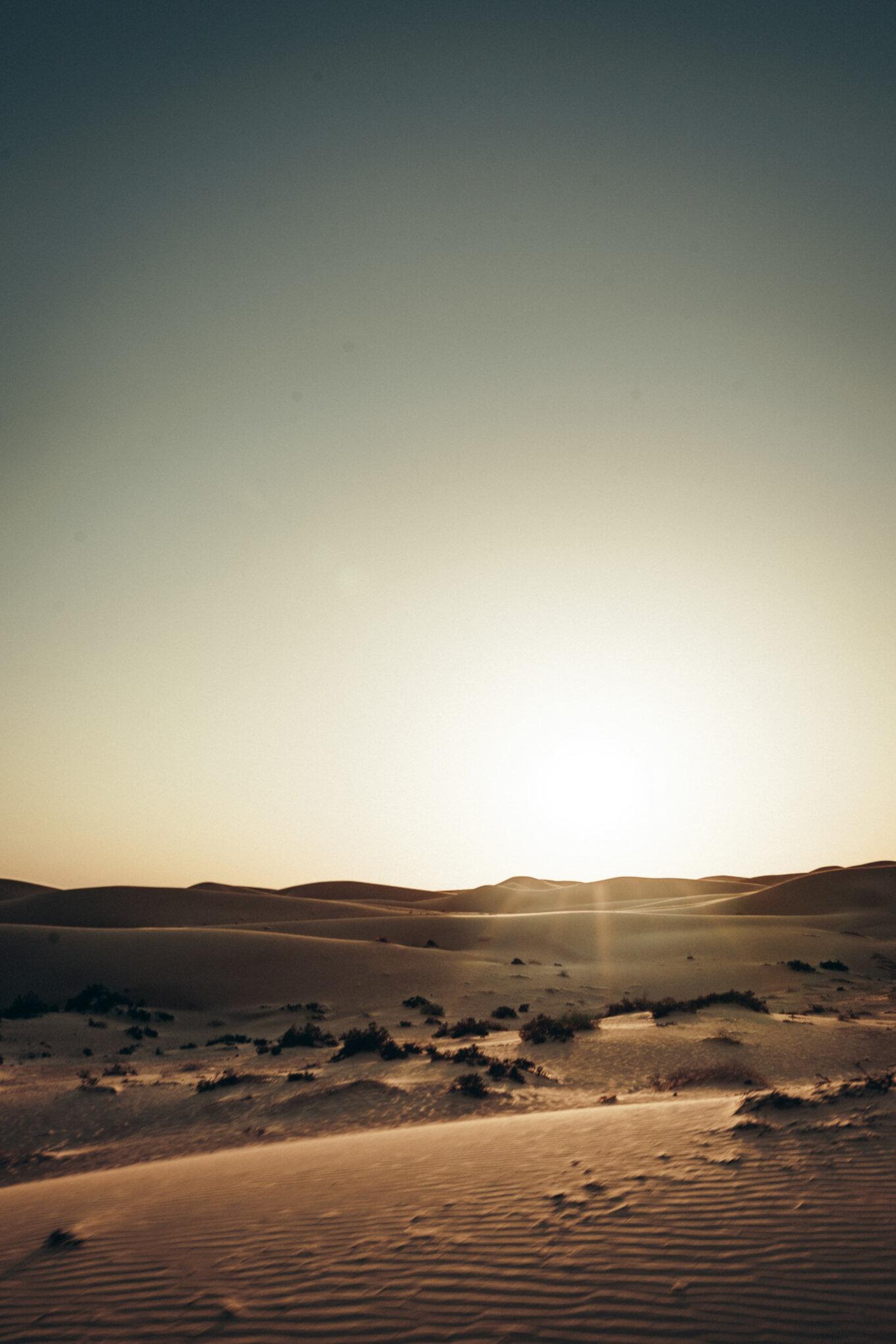Pustynia wokół Dubaju