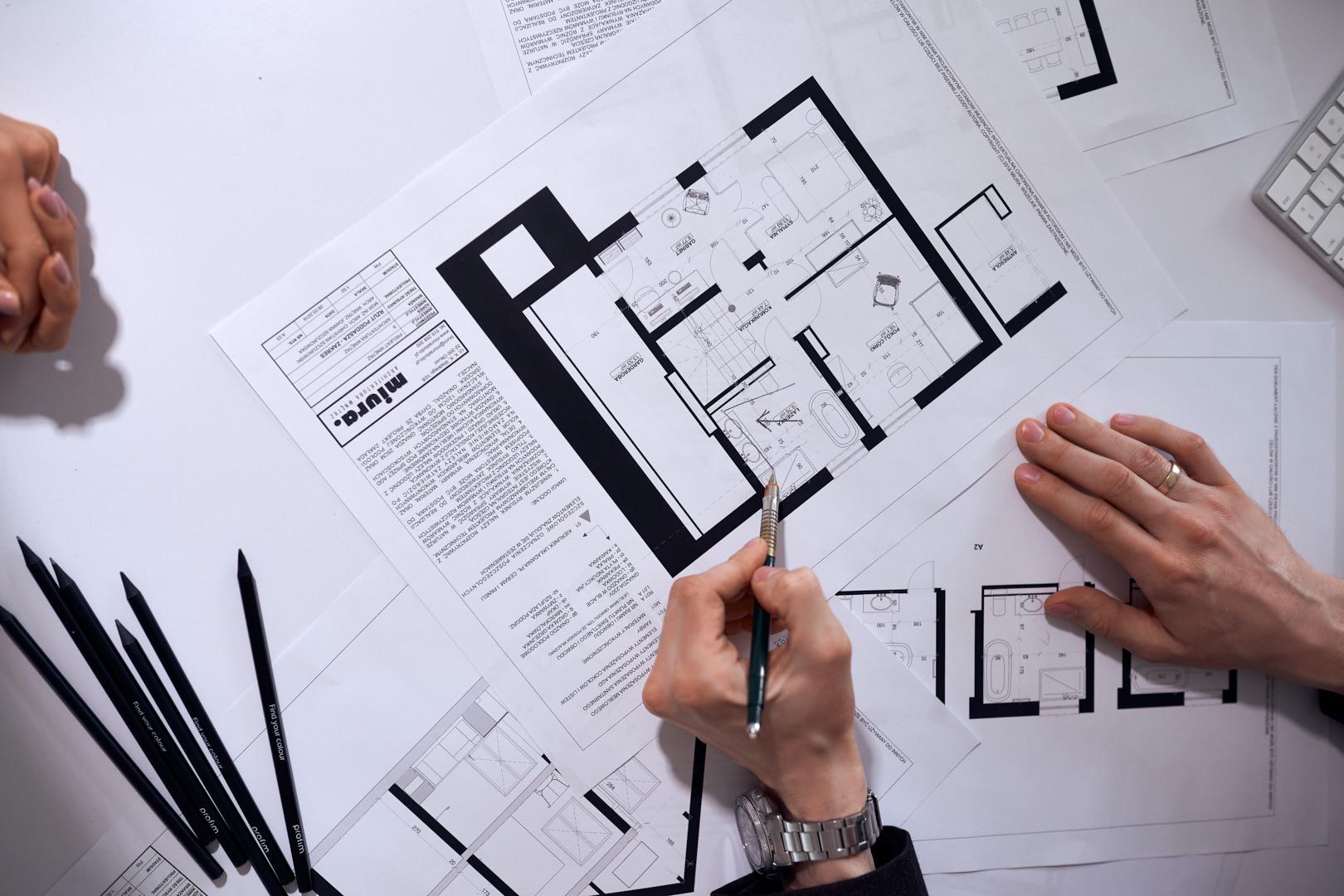 Rzut piętra domu - projekt wykonany przez Miura Studio