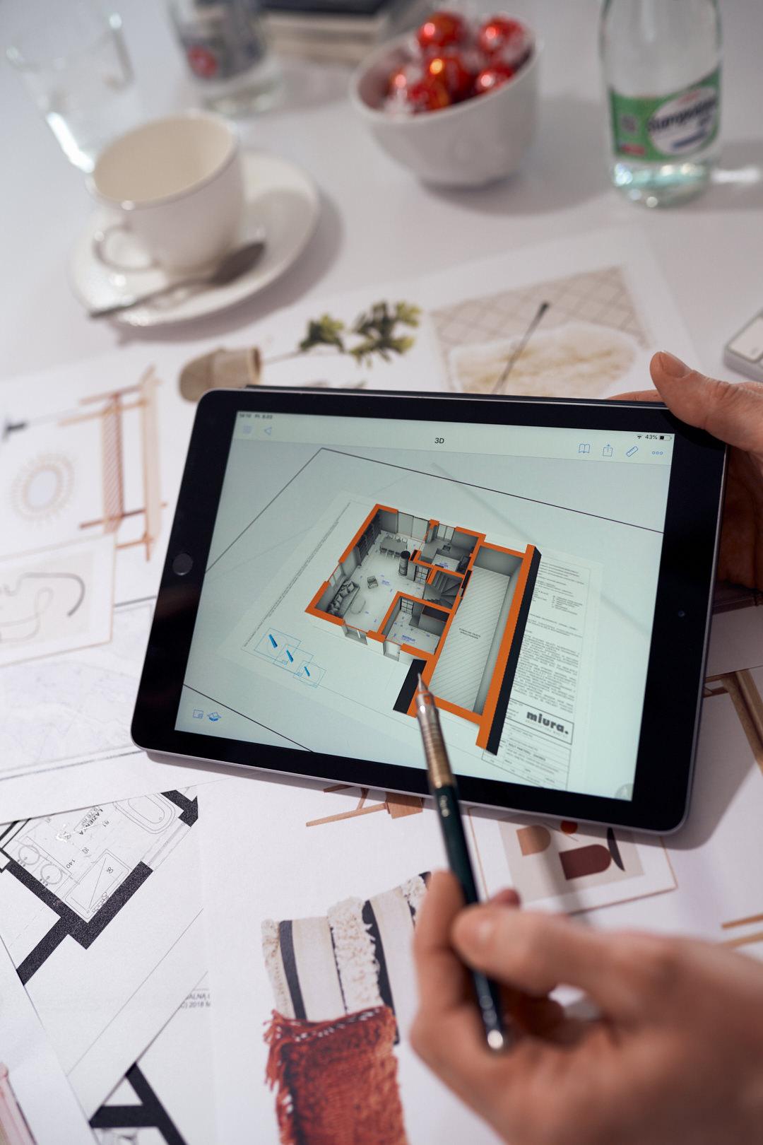 Prezentacja projektu w programie BIMx na Apple iPad