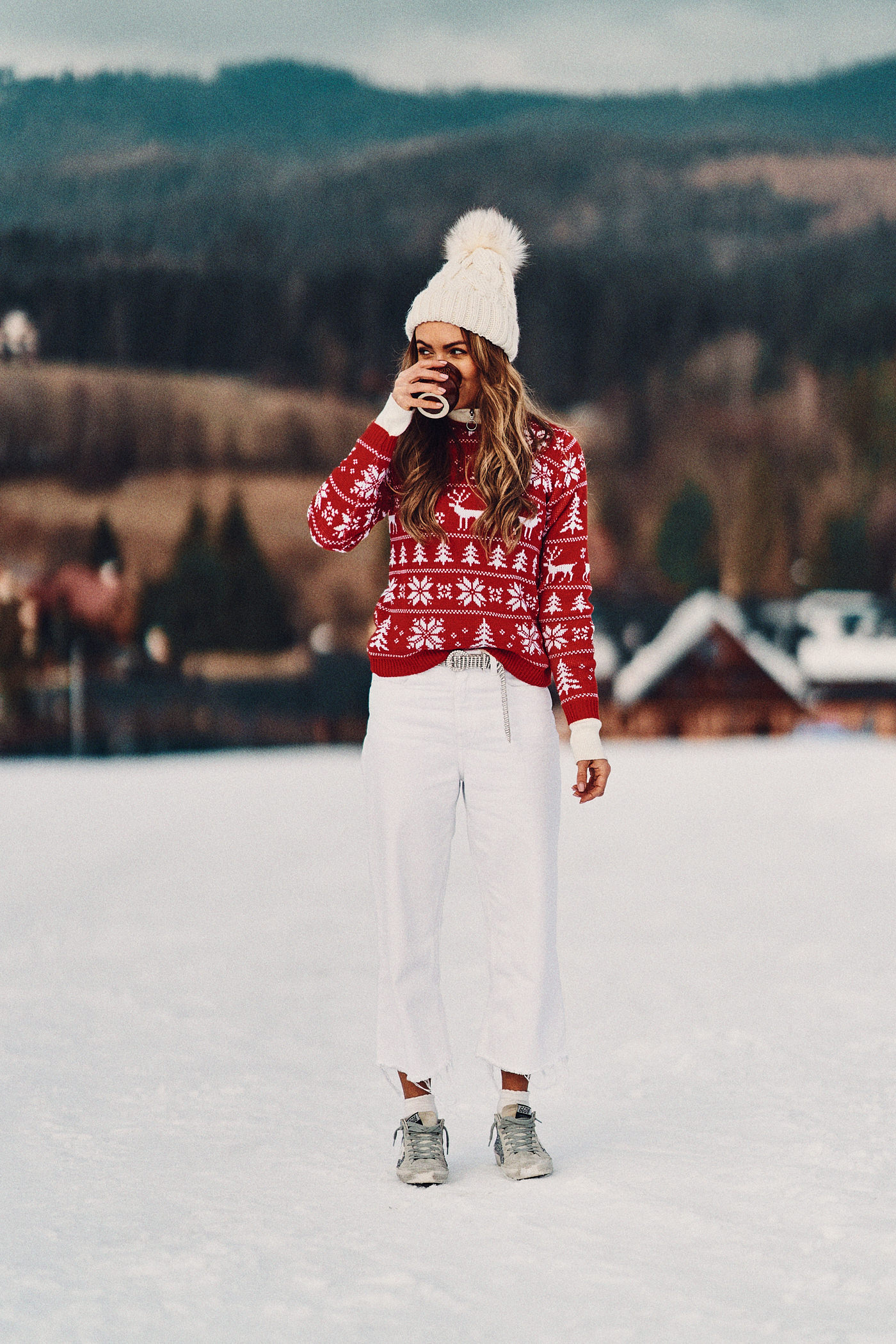 Świąteczny sweter, sweter Mosquito, Istebna, grzaniec galicyjski