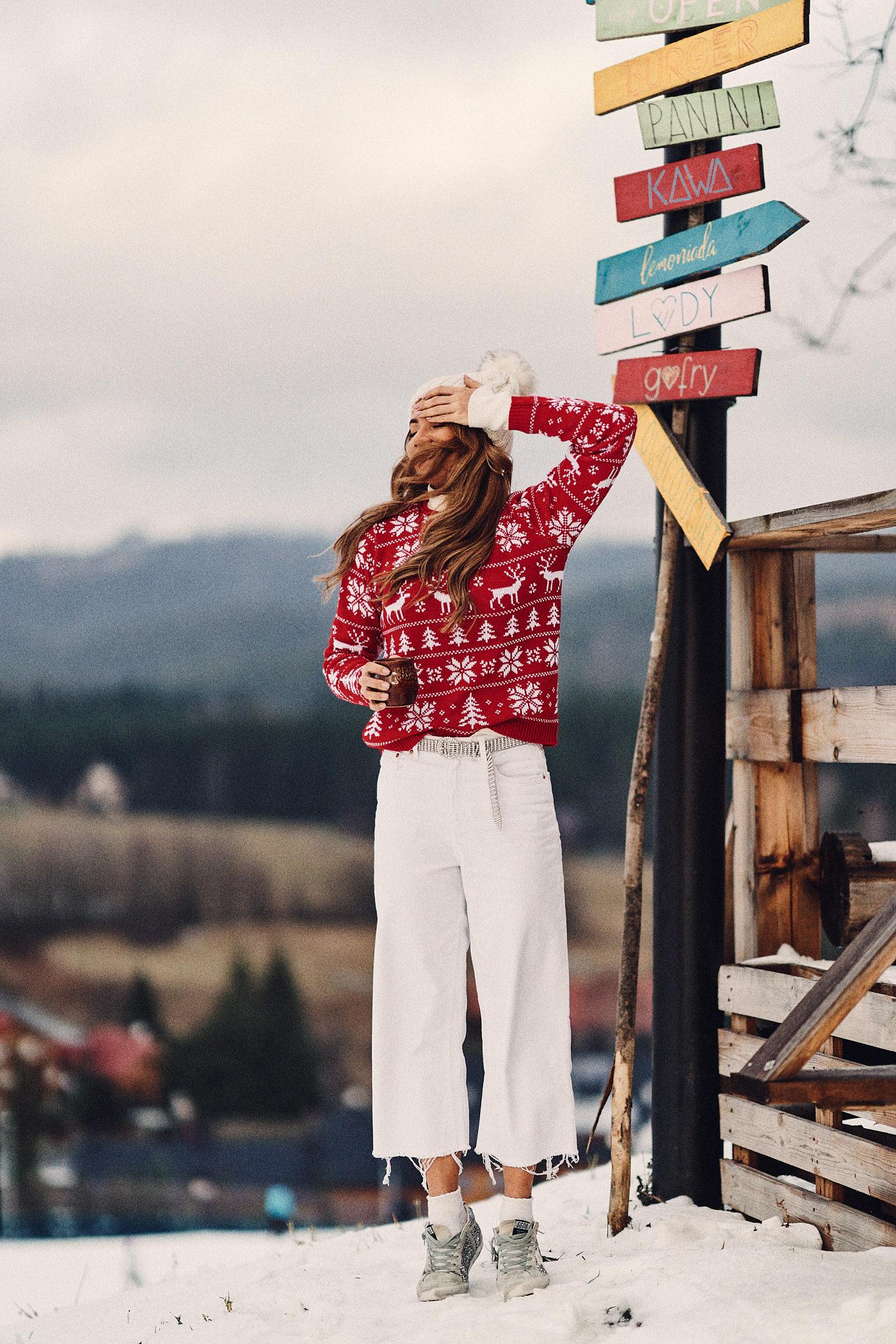 Świąteczny sweter, sweter Mosquito, Istebna, homelikecafe