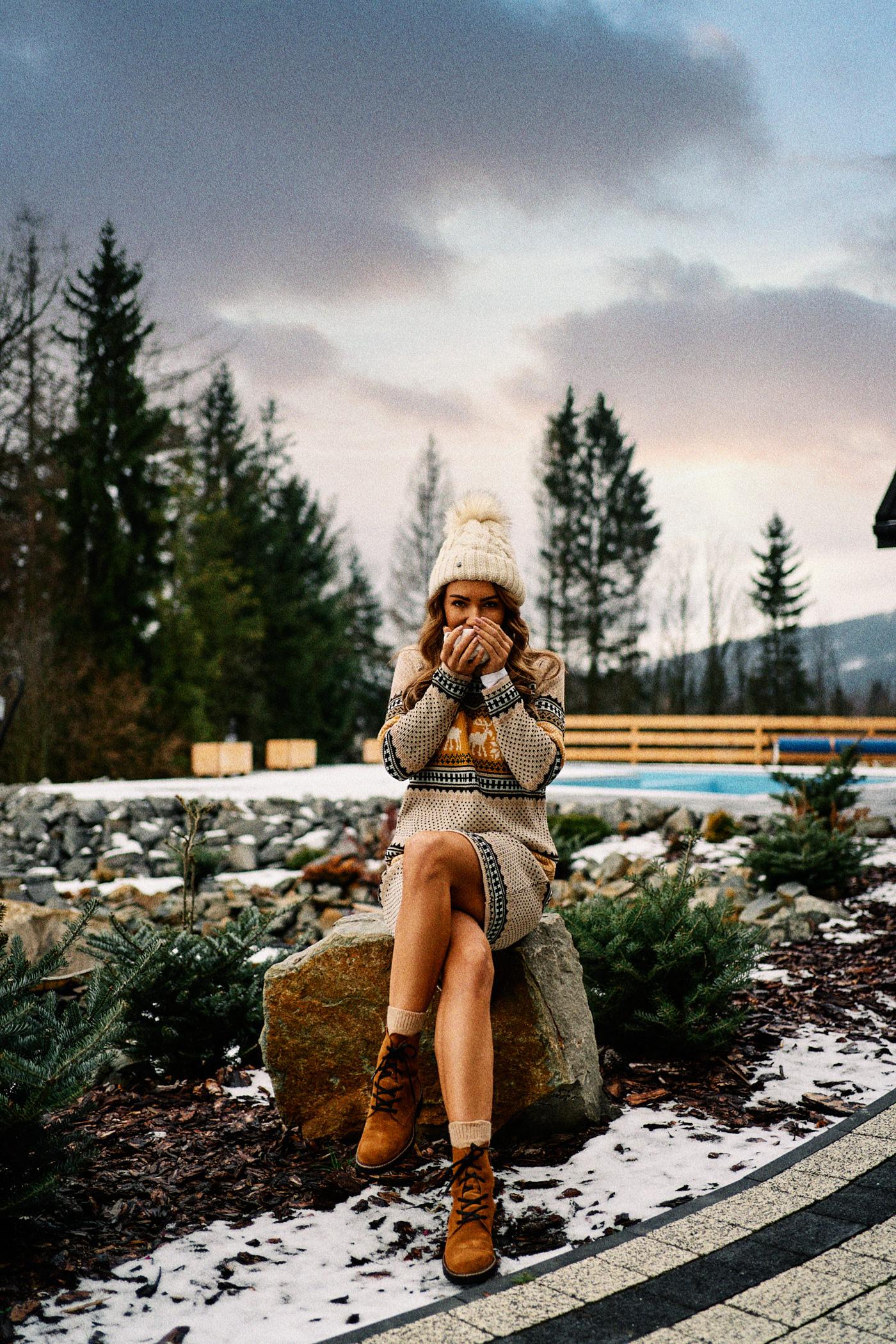 sweter zimowy, sweter w renifery, sweter na święta